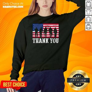 Veteran Thank You American Flag 4th Of July Sweater
